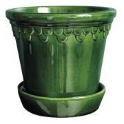 Bergs Potter - Köpenhavner Kruka/fat 16 cm Grön emerald