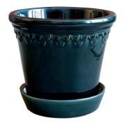 Bergs Potter - Köpenhavner Kruka/fat 18 cm Blå petroleum