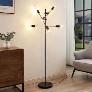 Lindby Estar golvlampa av metall, 6 lampor