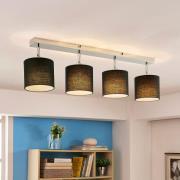 Taklampa Mairi med svarta skärmar och LED-lampor