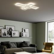 Lindby Tomke LED-taklampa i vitt, dimbar